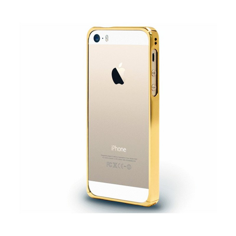 Bumper de protection pour iPhone SE, 5 et 5S Alloy X Champagne Gold