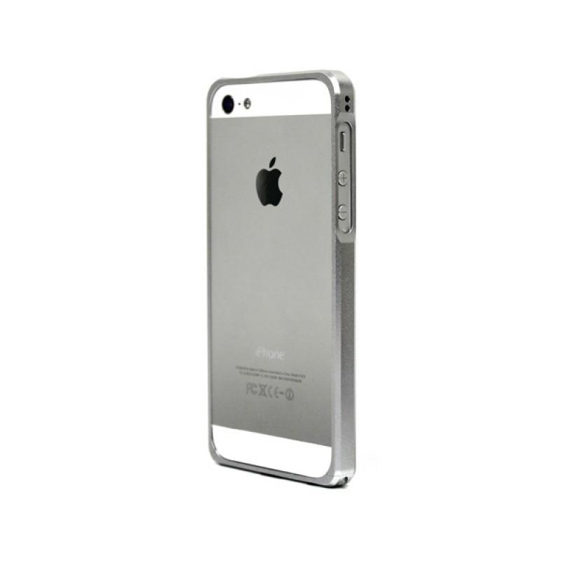 Bumper de protection Alloy X Silver pour iPhone SE, 5 et 5S