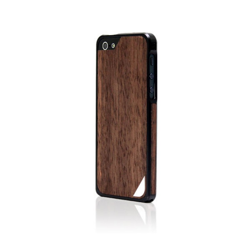 Protective bumper case for iPhone SE, 5 and 5S - Alloy X Wood Black