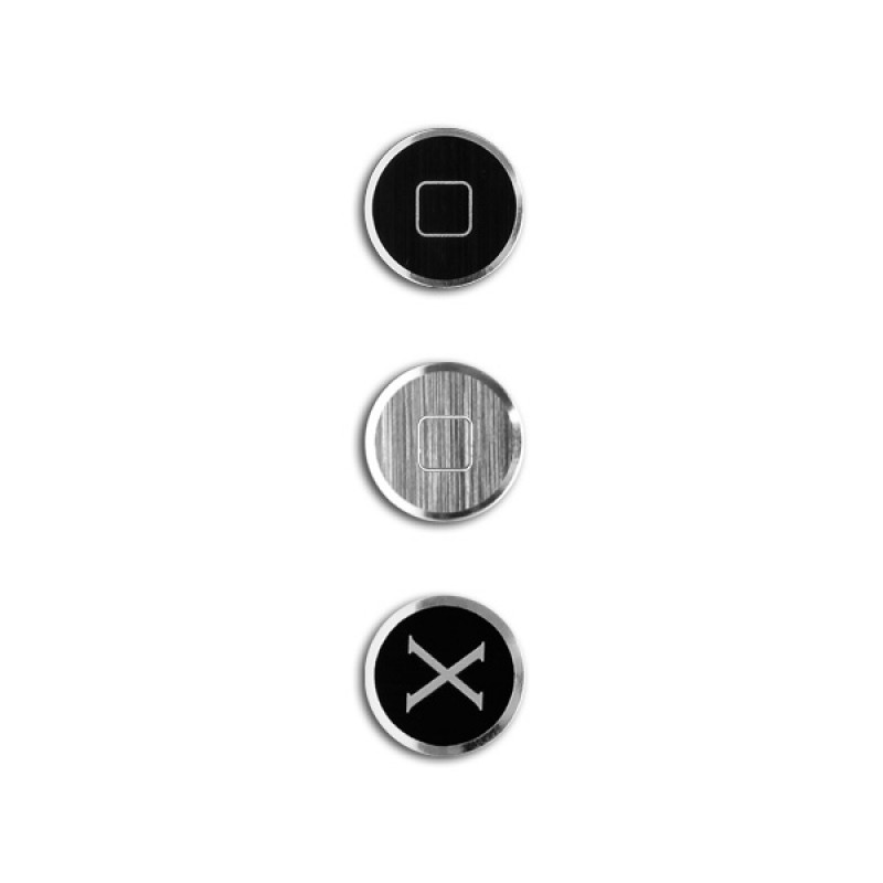Bouton Home pour iPhone et iPad - Alloy X Home Black Grey