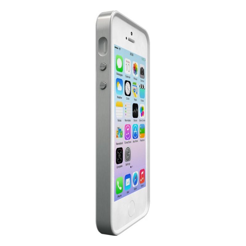 Coque contour de protection pour iPhone SE, iPhone 5 et iPhone 5S - Alloy X Mono Silver