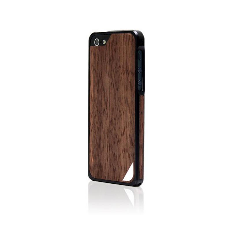 Coque bumper de protection pour iPhone 5 et 5S - Alloy X Wood Black