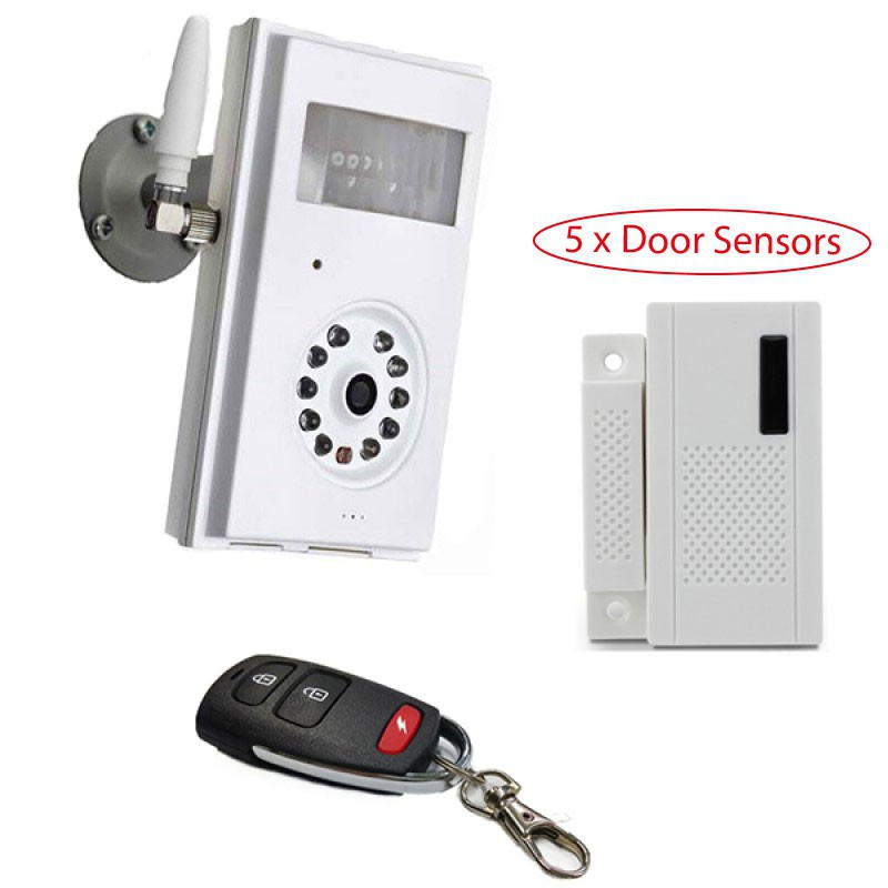 Caméra de surveillance 3G Wifi GSM 2G sans fil avec détecteur d'ouverture de porte