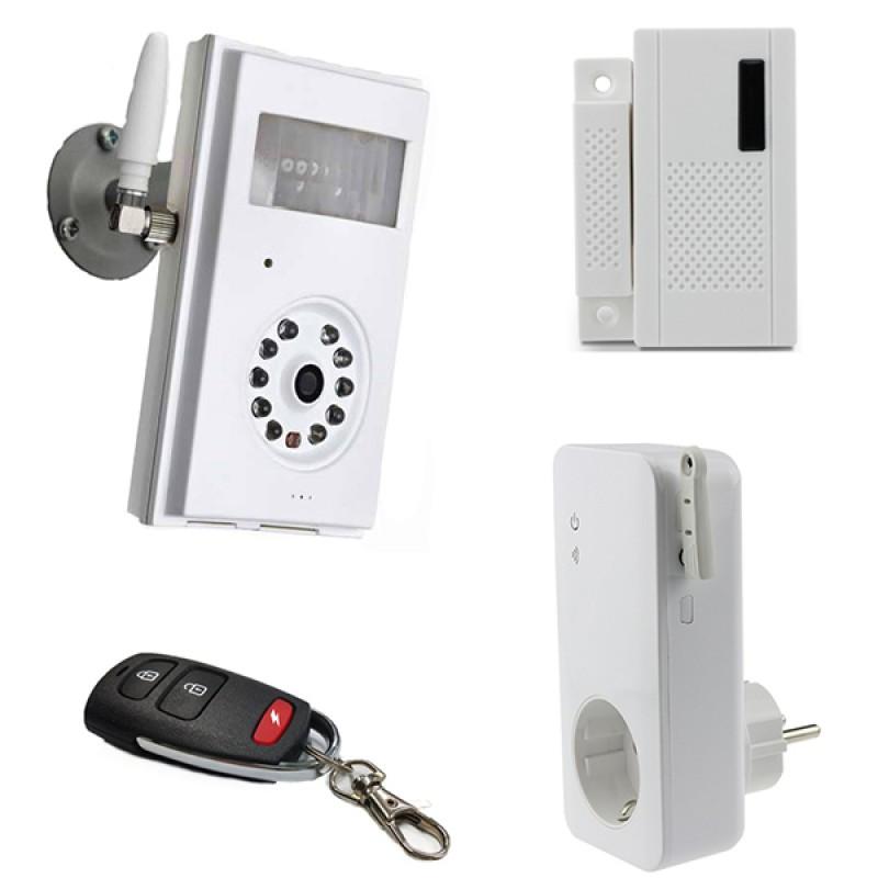 Caméra de surveillance GSM sans fil avec prise télécommandée Power Socket